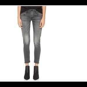 R13 Boy Skinny Jeans Size 27 Gray